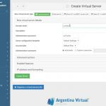Crear un dominio en el panel de control de hosting Virtualmin