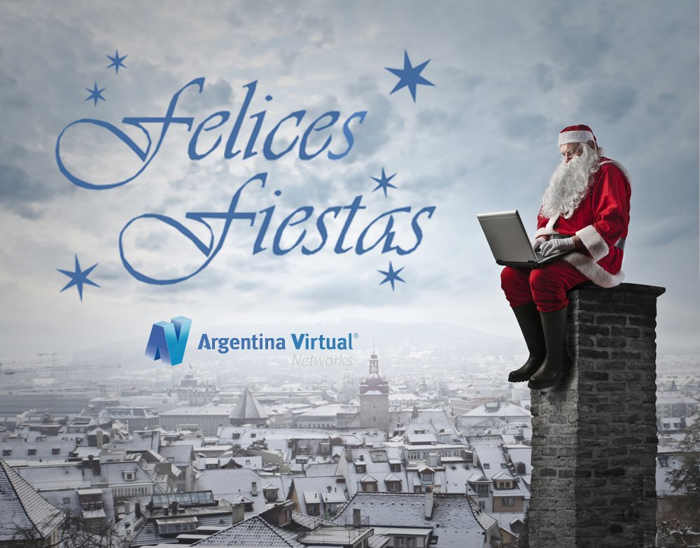 Felices Fiestas de Argentina Virtual
