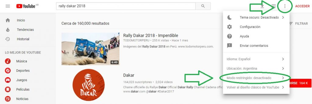 Como restringir el acceso a los videos en Youtube