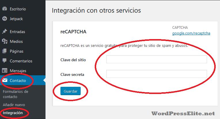 Instalando Google reCAPTCHA en Contact Form 7